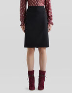 TAILORED WOOL SKIRT