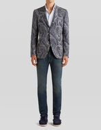 PAISLEY 쟈카드 져지 소재의 재킷