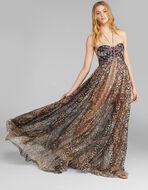EVENING DRESS WITH LUREX DOTS