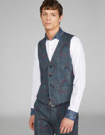 TAILORED PAISLEY PRINT VEST