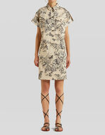LEAFY COTTON SHIRT DRESS