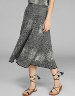 KNITTED SKIRT WITH LUREX INSERTS
