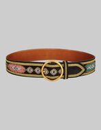 LEATHER BELT WITH EMBROIDERY