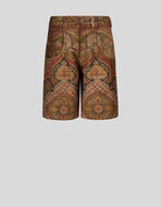 BERMUDAS WITH PLACED PAISLEY PATTERN