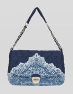 PAISLEY PRINT DENIM MATELASSÉ BAG