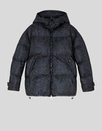 QUILTED NYLON DOWN JACKET WITH FLORAL PAISLEY PRINT
