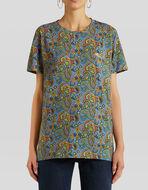フローラルペイズリー コットン Tシャツ