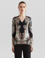 ペイズリー シルク セーター