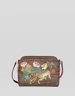 PAISLEY SHOULDER BAG WITH TIGERS AND WATERLILIES