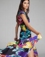 CREPE DE CHINE DRESS WITH FLORAL PRINT