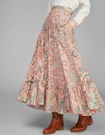PAISLEY印花褶皱短裙