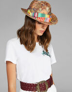 PAISLEY PRINT PANAMA HAT