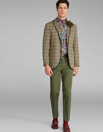 CHECK JACKET WITH GROS-GRAIN DETAILS