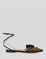 FLAT SANDALS WITH PAISLEY EMBROIDERY