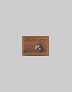 RABBIT-PRINT LEATHER CREDIT CARD HOLDER