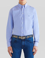 COTTON SHIRT WITH EMBROIDERED PEGASO