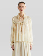 SILK BLOUSE WITH RUCHES