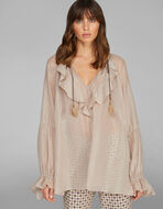 GAUZE SHIRT WITH RUCHES