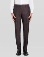 TAILORED JACQUARD TROUSERS WITH PAISLEY PATTERN