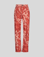COTTON JEANS IN FLORAL PATTERN
