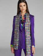 DOUBLE PRINT SILK SCARF