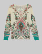 FLORAL CASHMERE AND SILK JUMPER