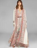 PAISLEY设计长款连衣裙