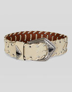 SUEDE BELT WITH THREADING