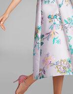 花柄ジャカードドレス