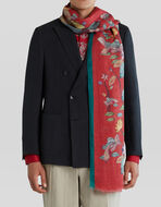 WATER LILY AND TIGER PRINT SCARF