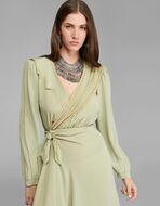 CRÊPE DE CHINE WRAP DRESS