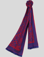WOOL JACQUARD SCARF WITH LOGO