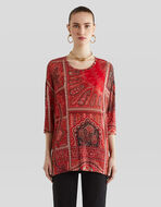 JERSEY JUMPER WITH PAISLEY PATTERNS