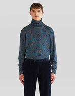 PAISLEY PRINT POLO NECK JUMPER
