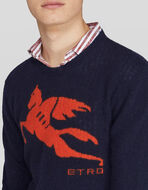 CREWNECK SWEATER WITH PEGASO LOGO