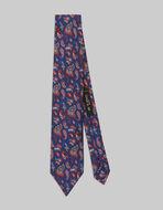小ぶりPAISLEY柄 シルク ネクタイ