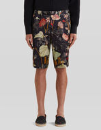 BERMUDAS WITH TIGERS AND WATER LILIES