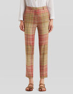 TAILORED TROUSERS WITH CHECK PATTERN