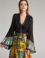 PATCHWORK-PRINT LONG DRESS
