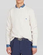 WOOL SWEATER WITH EMBROIDERED PEGASO