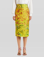 JACQUARD SHEATH SKIRT