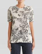 花卉设计真丝亚麻线衫