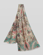 FLORAL PAISLEY WOOL AND SILK SCARF