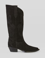 SUEDE BOOTS WITH PAISLEY EMBROIDERY