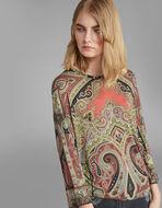 ペイズリープリント セーター