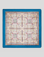 SILK TWILL QUILT WITH PRINT