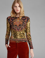 ANIMAL-PRINT JUMPER