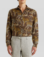 LINEN SHIRT WITH ANIMAL PRINT