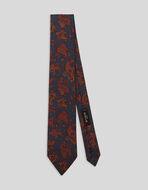 SILK TIE WITH PAISLEY PATTERNS