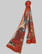 COLLAGE-PRINT SCARF